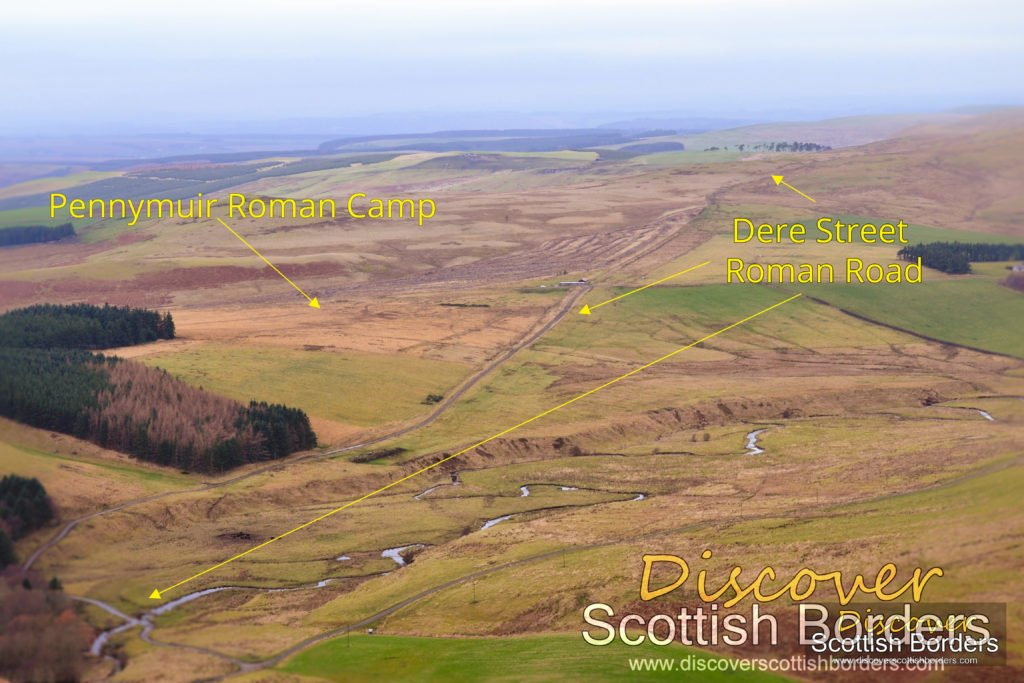Dere Street Roman Road and Pennymuir Roman Camp